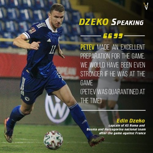 Džeko: Petev Made An Excellent Preparation For The Game